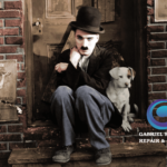 charlie chaplin and the dog - Colorization by Gabriel Soares